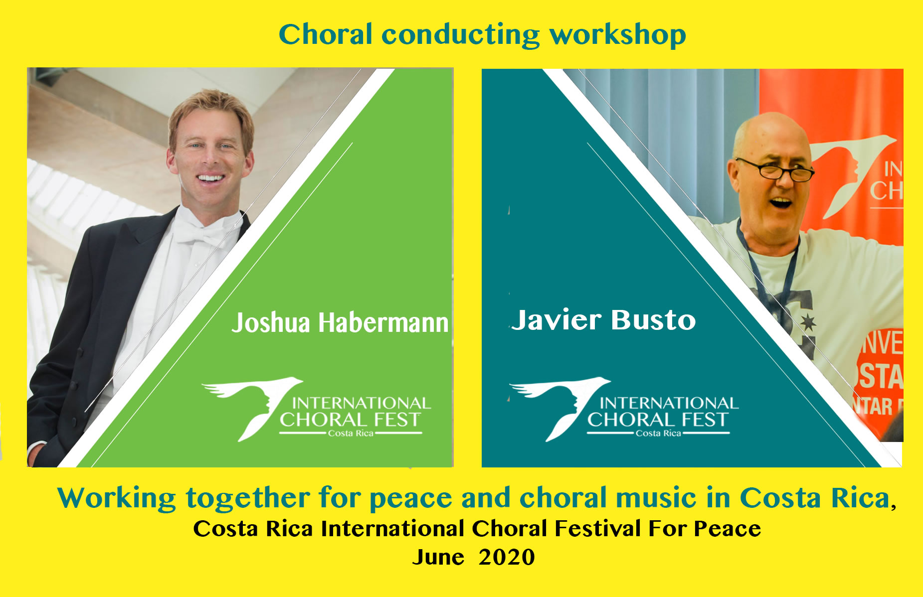 Costa Rica International Choral Festival For Peace June 24th to 30th 2020